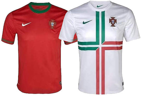 What does Portugal's new kit jersey for the Euro 2012 look like?